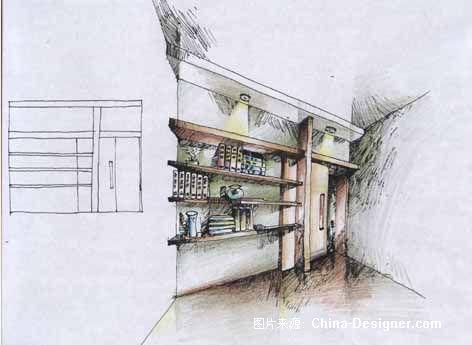 书房-设计手稿-吴亮的设计师家园-现代图片
