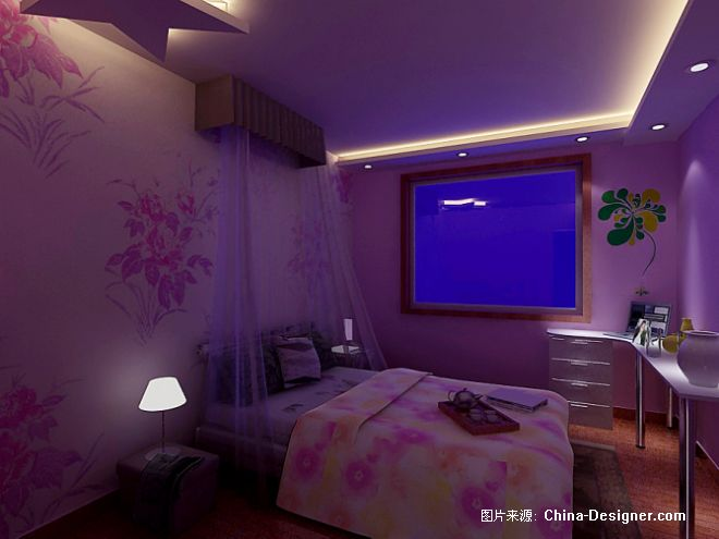 欧式装修效果图; 卧室-朱玉龙的设计师家园-1-5万,三居,卧室