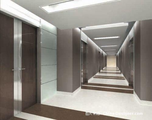 公共走廊 现代装修效果图(1张); 北大科技发展中心二期工程; 公共走廊