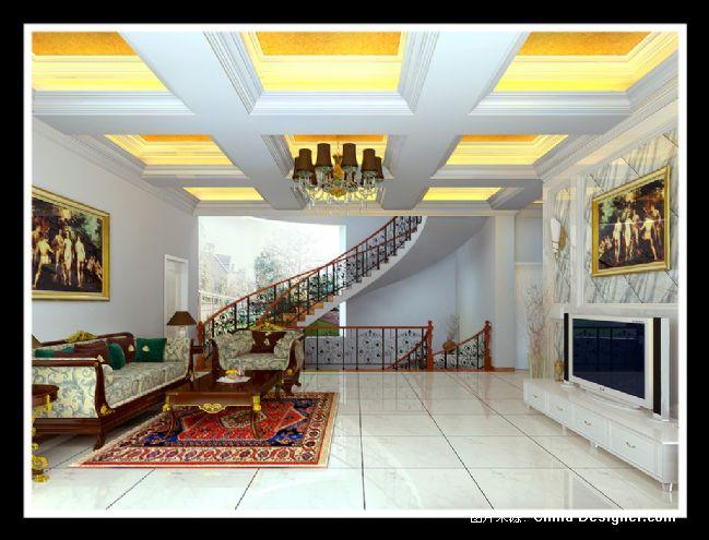 二楼欧式客厅-王继军的设计师家园-欧式