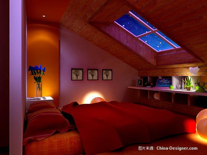 阁楼卧室装修 家装图片227; 斜顶卧室装修效果图; 阁楼卧室 酷家
