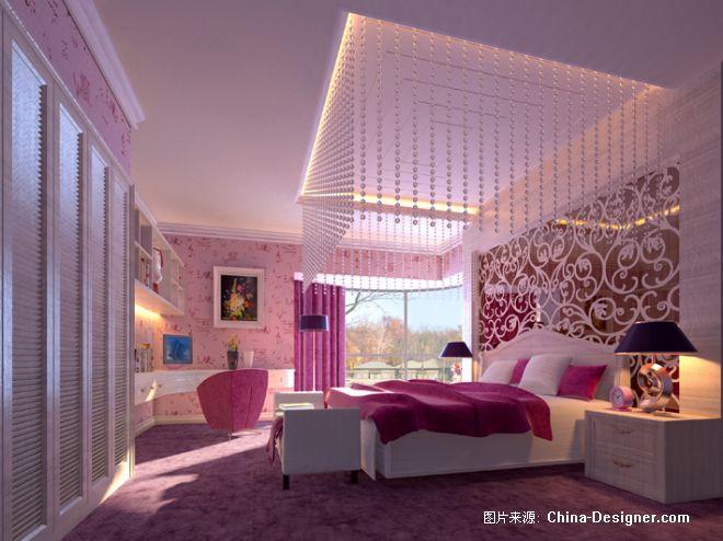 卧室1 欧式装修效果图;;; 设计师家园-室内设计,效果图,装修; 随心;