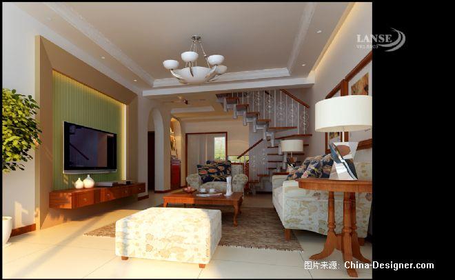 梦想样板房-张 辉的设计师家园-20-30万,跃层,客厅,黄色,欧式,现代