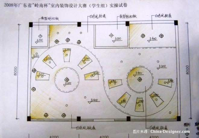 咖啡厅天花布置图-张宇的设计师家园-咖啡厅天花布置图