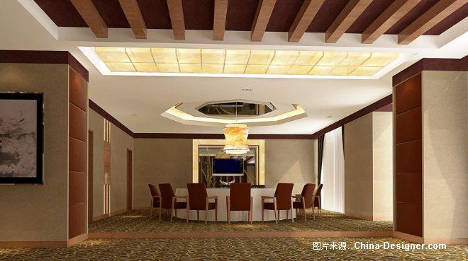 中式木红装修效果图