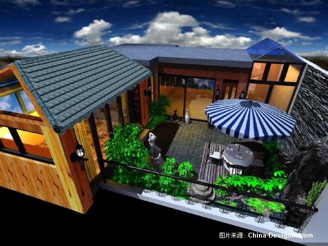 中式天台效果图欣赏