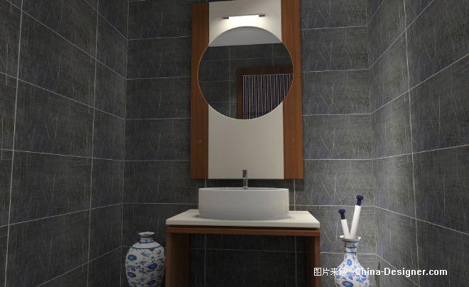客卫洗手间-戴兴龙的设计师家园-新中式图片