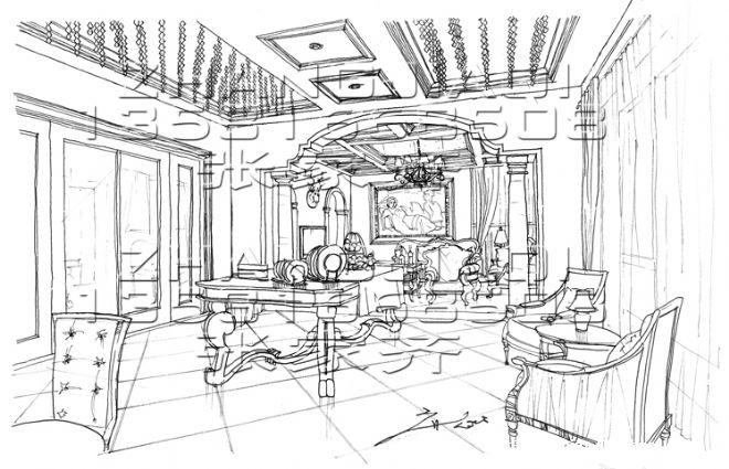 家庭室草案-张家齐的设计师家园-早餐草图