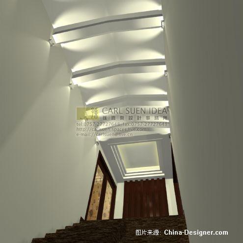 p018三层楼梯间效果图副本-孙嘉乐设计策划事务所的设计师家园-别墅