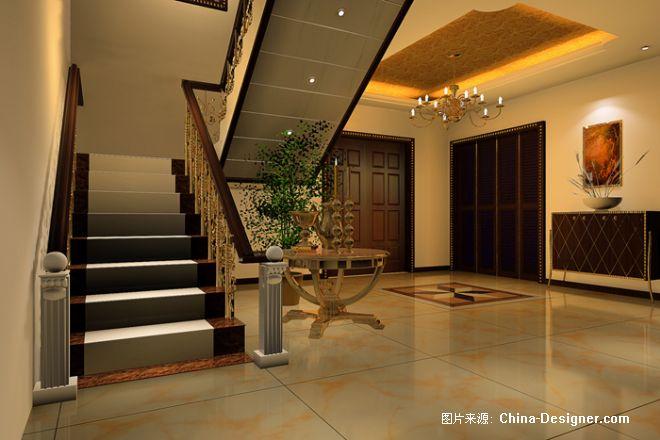 楼梯间-雷奥居家设计装潢的设计师家园-欧式