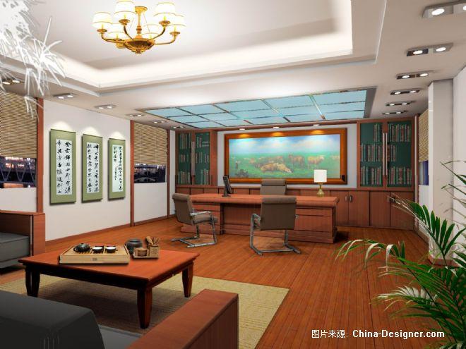 老总办公室-钟桦的设计师家园-现代,中式图片