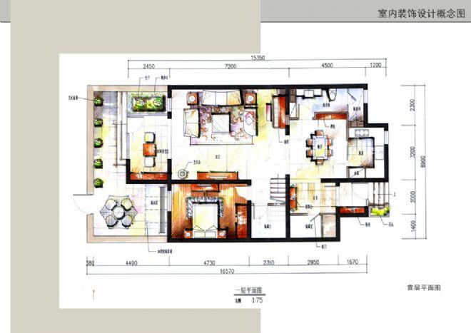 200801首层平面图布置图拷贝-张泽雄的设计师家园-欧式