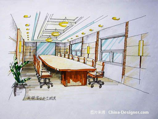 办公空间手绘-胡鲲的设计师家园-现代