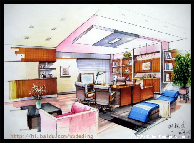 手绘室内效果图2-刘林生的设计师家园-手绘