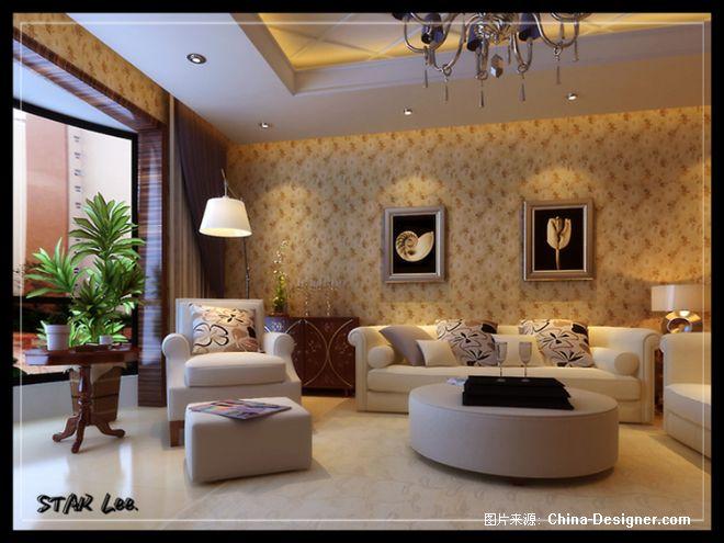简欧式客厅沙发背景-李星的设计师家园-客厅