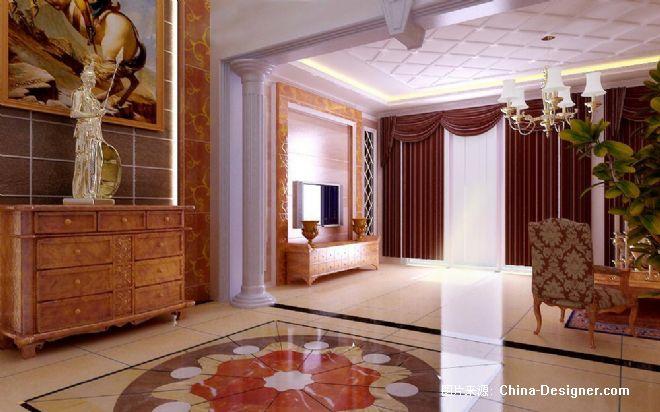玄关电视墙-王德玉的设计师家园-欧式