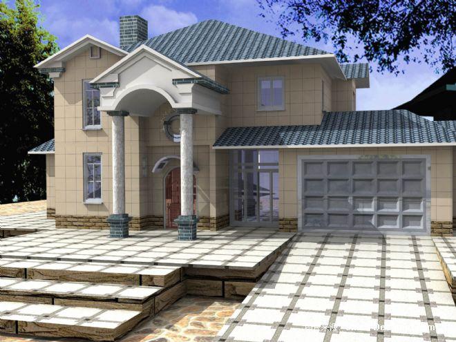 别墅外观装修效果图