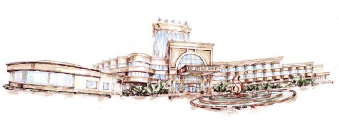 立面全景手绘图-深圳市艺组装饰设计有限公司的设计