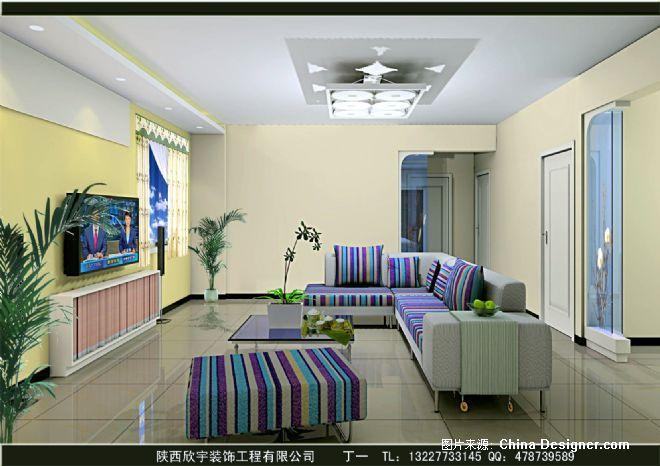 简装客厅效果图01-圣达装饰设计有限公司的设计师家园-客厅,白色,现代