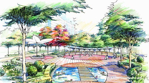 园林艺术设计手绘图