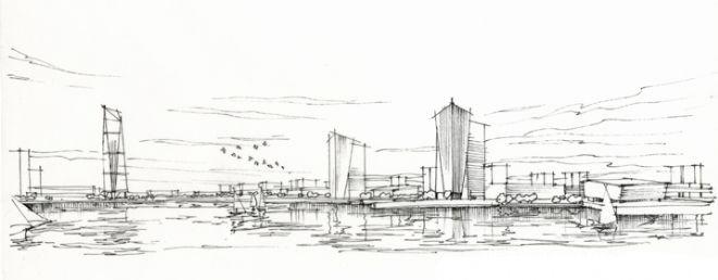 建筑设计手绘设计图__建筑设计