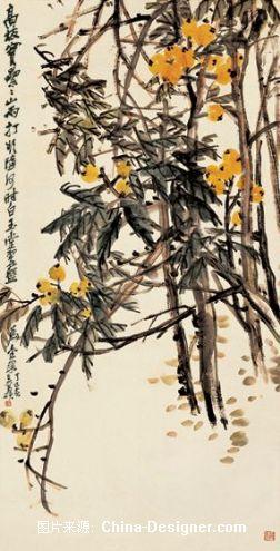 国画琵琶树