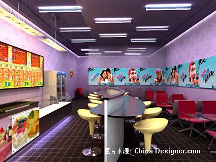 冰淇淋店效果图2-张洪刚的设计师家园-紫色