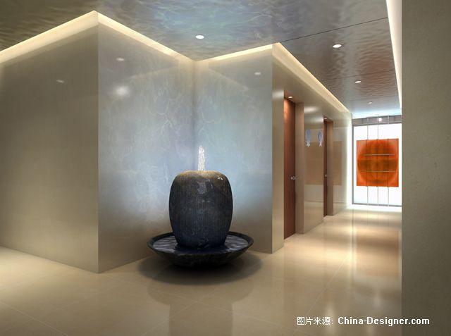 走廊水景副本-张络的设计师家园-办公室