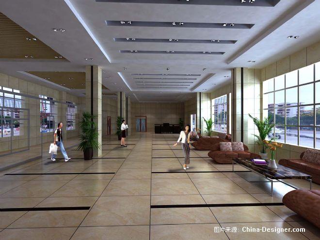长沙经阁铝材办公楼大堂-段安德的设计师家园-现代