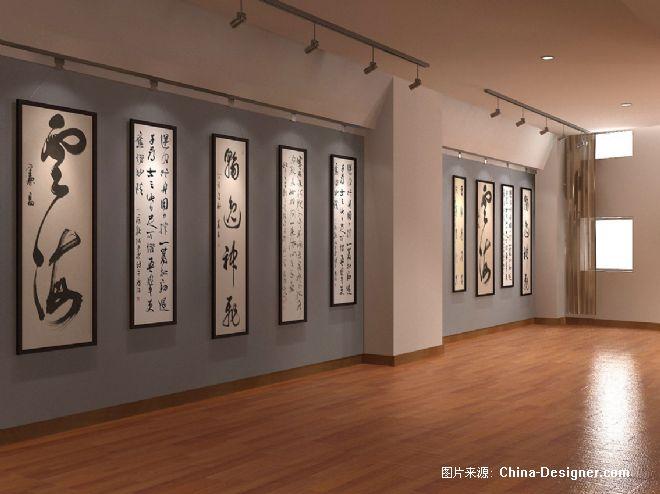 书画展示厅效果图-汪如军的设计师家园-新古典图片图片