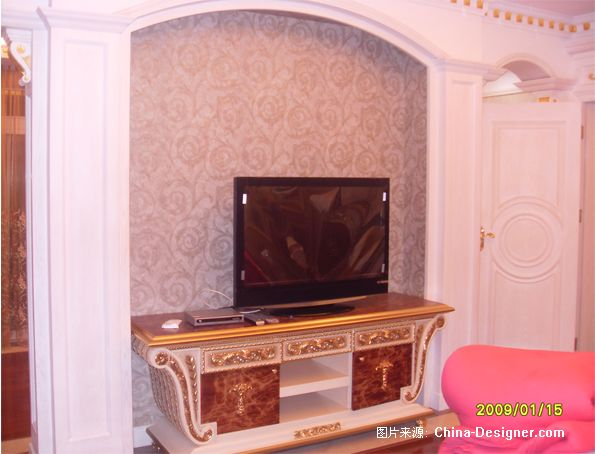 主卧电视背景-李生凯的设计师家园-100-200万,别墅,卧室,白色,欧式