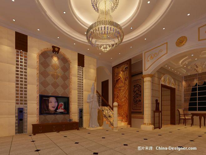 别墅大厅上-凌兴武的设计师家园-别墅,客厅,黄色,奢华