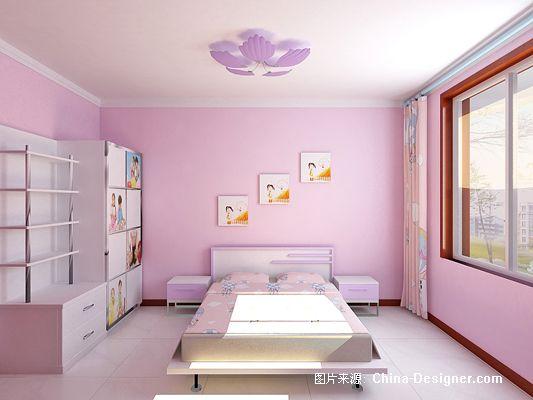 少女房间装饰效果图;; 儿童房2 粉色装修效果图; 标题: 儿童房2 粉色