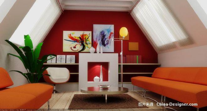 别墅屋顶-彭小波的设计师家园-红色,客厅,温馨,欧式