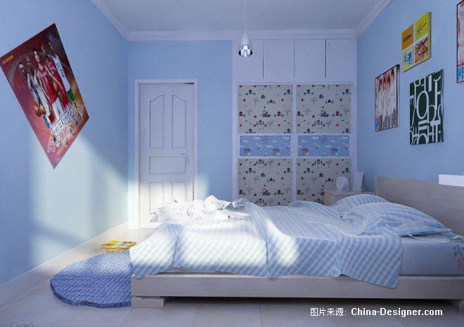 蓝色儿童房-蓝色儿童房设计-儿童房设计理念