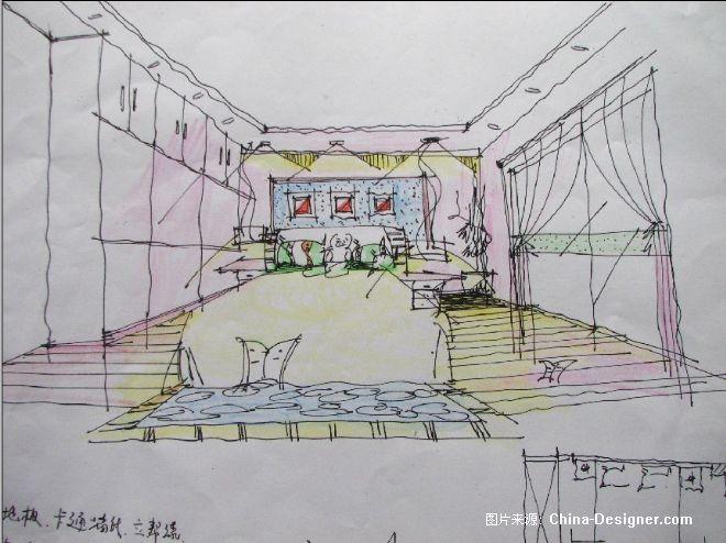 周生别墅女儿房手绘图-叶心军的设计师家园-奢华