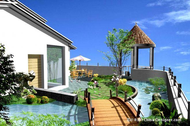 别墅屋顶花园-南京精诚建筑设计的设计师家园-南京嘉盛现代屋顶花园