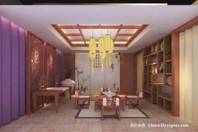 调整大小 茶室效果图-吴海冬的设计师家园-视听间,中式