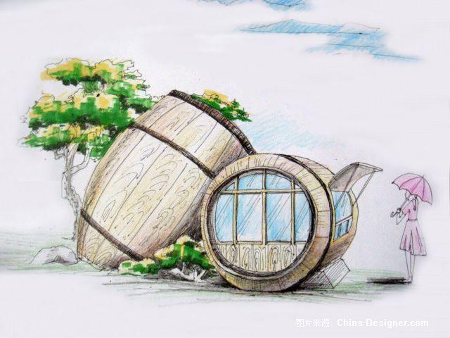 广场景观小品6-周锐的设计师家园-广场景观小品手绘效果图