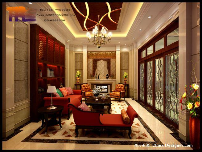 偏厅效果图成图-双嘉设计工作室的设计师家园-欧式