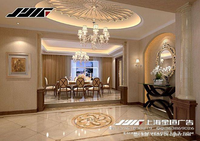 《欧式别墅门厅》-设计师:上海金垣效果图公司