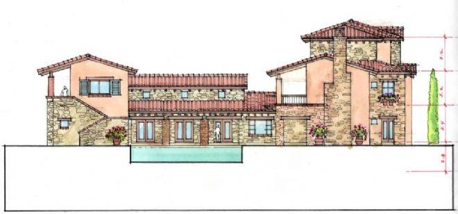 欧式风格建筑别墅手绘