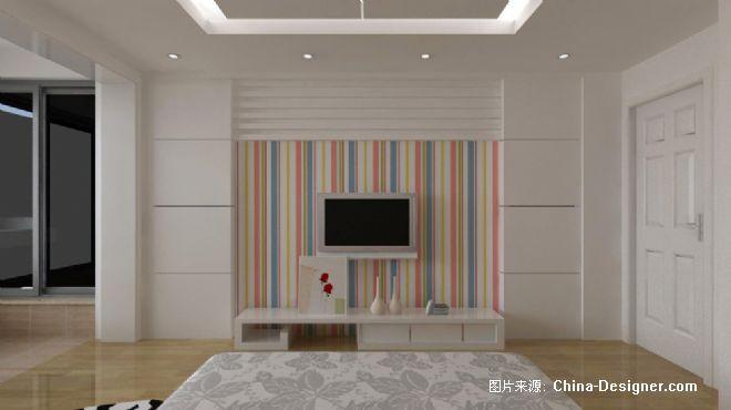 卧室电视北景墙图片-娜?的设计师家园-白色