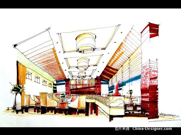 商业空间室内手绘图; 商业空间室内手绘图