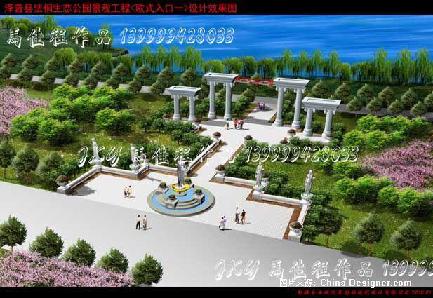 欧式入口-马佳程的设计师家园-广场公园景观绿化小品图片