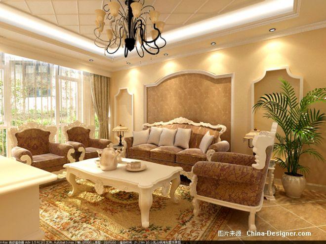 乳山别墅客厅沙发背景墙-刘学澎的设计师家园-欧式