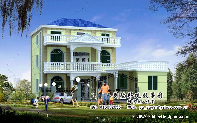 经济型农村小别墅-余祖银的设计师家园-20-30万,别墅,阳台,黄色,现代