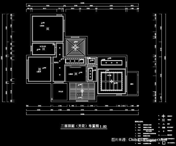 二层顶面天花布置图-张宇恒的设计师家园-别墅