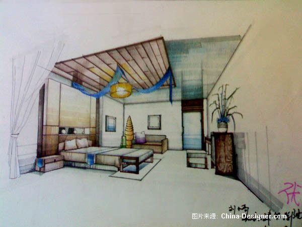 《室内马克笔手绘》-设计师:刘小奇图片