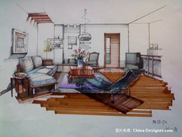 《室内马克笔手绘》-设计师:刘小奇